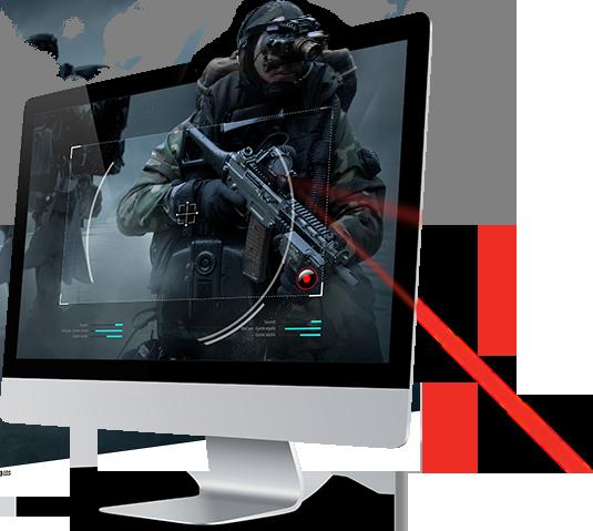 Illustration of a full HD monitor